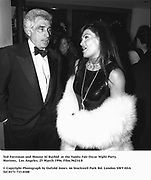 Ted Forstman and Mouna Al Rashid  at the Vanity Fair Oscar Night Party Mortons,  Los Angeles. 25 March 1996. Film.96214/8<br /><br />© Copyright Photograph by Dafydd Jones<br />66 Stockwell Park Rd. London SW9 0DA<br />Tel 0171 733 0108