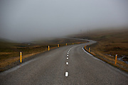 A road leading off into the distance in Iceland