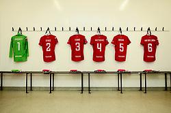 General views of the changing rooms prior to kick off - Mandatory by-line: Ryan Hiscott/JMP - 29/09/2019 - FOOTBALL - SGS College Stoke Gifford Stadium - Bristol, England - Bristol City Women v Chelsea Women - FA Women's Super League