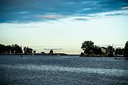 Lake Michigan harbor in Grand Haven, Michigan.