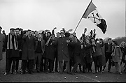 Fitzgibbon Cup Semi-Final, University College Cork v University College Galway, at Belfield..UCC Fans.07.03.1964.