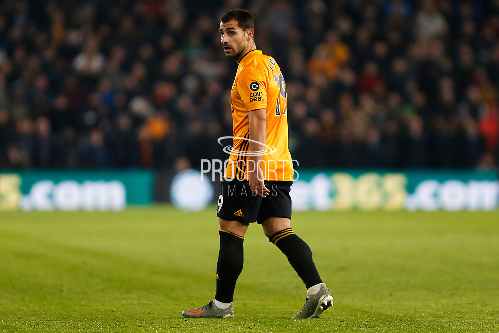 Jonny in action during the Premier League match between Wolverhampton Wanderers and West Ham United at Molineux, Wolverhampton, England on 4 December 2019.