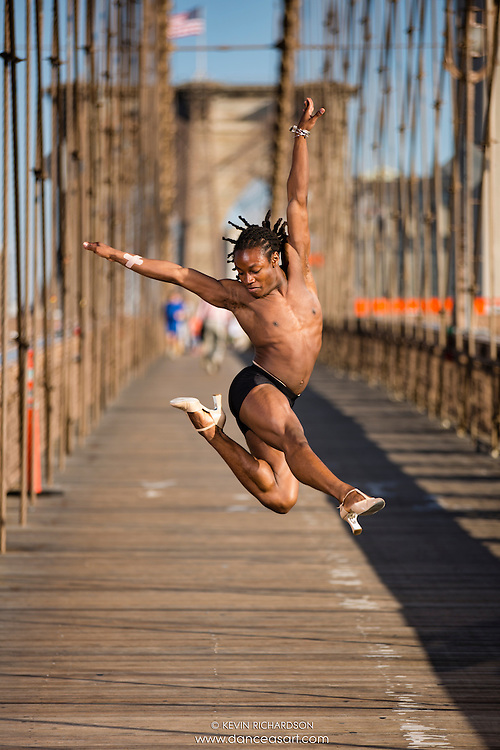 Dance As Art  New York City Photography Brooklyn Bridge Series with dancer, Kevin Mimms
