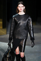 Bette Franke walks down runway for F2012 Alexander Wang's collection in Mercedes Benz fashion week in New York on Feb 12, 2012 NYC