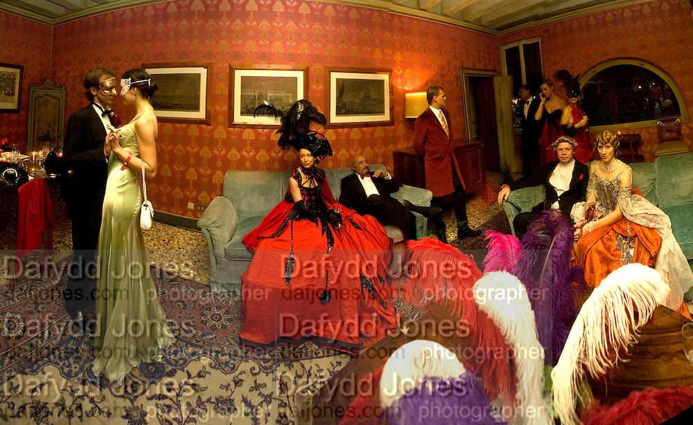 INGRIDA KRASAUSKAITE; FREDERICO LUTI, Francesca Bortolotto Possati, Alessandro and Olimpia host Carnevale 2009. Venetian Red Passion. Palazzo Mocenigo. Venice. February 14 2009.