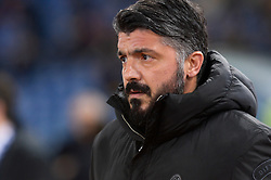 February 3, 2019 - Rome, Italy - Gennaro Gattuso during the Italian Serie A football match between A.S. Roma and A.C. Milan at the Olympic Stadium in Rome, on february 03, 2019. (Credit Image: © Silvia Lore/NurPhoto via ZUMA Press)