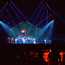 """The Grateful Dead Live at The Hampton Coliseum on 9 October 1989. One of the """"Formerly The Warlocks"""" concerts. Sound Engineer Dan Healy at the board seen in right foreground. Limited Edition Photographic Prints available for purchase in Cart."""