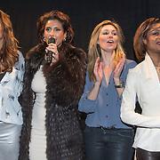 NLD/Amsterdam/20140203 - 20 Jaar Talkies Magazine, Quinty Trustfull, Kristina Bozilovic, Vivian Slingerland en Sylvana Simons