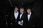 Christopher Moran and his sons Charles and Jamie. The Black and White Winter Ball. Old Billingsgate. London. 8 February 2006. -DO NOT ARCHIVE-© Copyright Photograph by Dafydd Jones 66 Stockwell Park Rd. London SW9 0DA Tel 020 7733 0108 www.dafjones.com