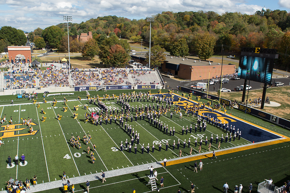 October 7, 2017 - Johnson City, Tennessee - William B. Greene Jr. Stadiumn<br /> <br /> Image Credit: Dakota Hamilton/ETSU