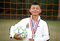 (CH) Jacobo Escobar, player of the Sunrise Elite U14 soccer team, poses at Flamingo park on April 12, 2012. Staff photo/Cristobal Herrera