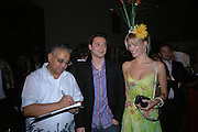 BIPIN DESSAI, ( BOUGHT SASHA'S PAINTING IN THE AUCTION. SASHA JAFRI AND HIS WIFE  OLIVIA JAFRI. Why Not?  in aide of the orphans of the Rwandan genocide. Westbourne Studios. 24 November 2005. ONE TIME USE ONLY - DO NOT ARCHIVE  © Copyright Photograph by Dafydd Jones 66 Stockwell Park Rd. London SW9 0DA Tel 020 7733 0108 www.dafjones.com