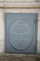 Fountain monument to Dr Isaac Usher in Dundrum in Dublin Ireland
