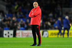 Manchester United assistant caretaker manager Mike Phelan of Manchester United watches the warm up session - Mandatory by-line: Nizaam Jones/JMP - 22/12/2018 -  FOOTBALL - Cardiff City Stadium - Cardiff, Wales-  Cardiff City v Manchester United - Premier League
