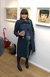 CLAUDIA WINKLEMAN at an exhibition of artist Jonathan Yeo's portrait paintings held at Eleven, 11 Eccleston Street, London SW1 on 16th February 2006.<br />