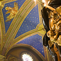 Detail of the cenotaph of Suor Maria Raggi, work by G. L. Bernini, Santa Maria Sopra Minerva Basilica, Rome