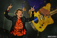 Mick Jagger performs with the Rolling Stones in Carter-Finley Stadium.