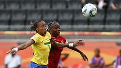 06-07-2011 VOETBAL: FIFA WOMENS WORLDCUP 2011 EQUATORIAL GUINEA - BRAZIL: FRANKFURT<br /> Anonman (EQG) gegen Ester (BRA) <br /> ***NETHERLANDS ONLY***<br /> ©2011-FRH- NPH/Karina Hessland