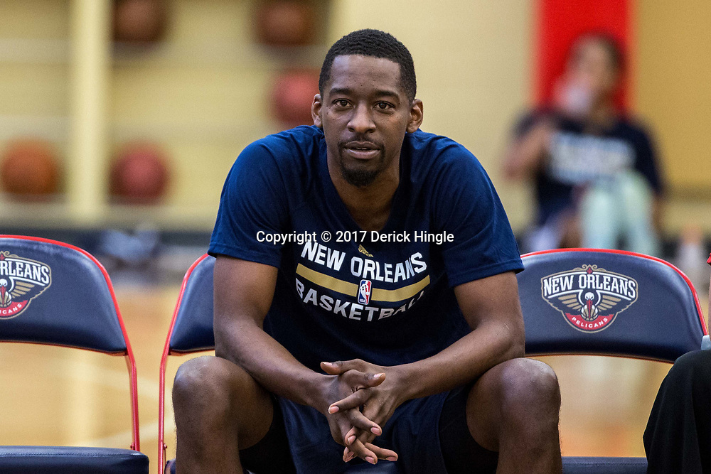 Jordan Crawford during New Orleans Pelicans summer league practice in Metairie, La. Tuesday, July 4, 2017.