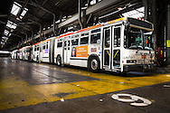 Flynn Division's articulated motor coach's wait to go out on the afternoon run | May 5, 2014