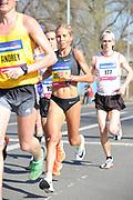 Jordan Hasay (USA) places sixth in the women's race in 1:07:55 in the Prague Half Marathon in Prague, Czech Republic on Saturday, April 17, 2017. (Jiro Mochizuki/IOS)