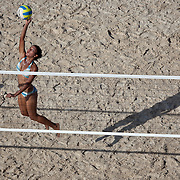 Beach Volleyball at Old Belize, Belize City, Belize