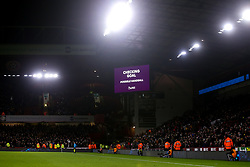 The scoreboard shows that a VAR Check is in progress to check if a late West Ham United goal should stand, the goal is disallowed for handball - Mandatory by-line: Robbie Stephenson/JMP - 10/01/2020 - FOOTBALL - Bramall Lane - Sheffield, England - Sheffield United v West Ham United - Premier League