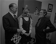 "04/07/1969.07/04/1969.4th July 1969.Sean Keating at an exhibit of a representative selection of the exhibits in the RTE Regional Arts awards from Limerick  shown in the Tintawn showroom in South KIng Street, Dublin...Sean Keating.Sean Keating (1889-1977).Portrait and figure painter, John Keating was born in Limerick on 28th September 1889...Examples: Armagh: County Museum. Ballinasloe, Co. Galway: St Joseph's College. Beijing: Irish Embassy. Belfast: Dublin Institute for Advanced Studies; Passionist Retreat, The Graan. Galway: National University of Ireland. Glasgow: Art Gallery and Museum. Kilkenny: Art Gallery Society. Clongowes Wood College. Oldham, Lancs: Art Gallery and Museum. Rome: Irish College. Sligo: Model and Niland Centre. Tralee, Co. Kerry: St John's Church. Waterford: City Hall, Municipal Art Collection. Electricity Supply Board; Federated Workers' Union of Ireland; Hugh Lane Municipal Gallery of Modern Art; Institution of Engineers of Ireland; McKeeBarracks; Mansion House; National Gallery of Ireland; National Museum of Ireland; Office of Public Works; Pharmaceutical Society of Ireland; University College (Newman House; Earlsfort Terrace). Dundrum, Co. Dublin: Carmelite Fathers, Gort Muire. Enniskillen, Co. Fermanagh: Ulster Museum. Bray, Co. Wicklow: Letterkenny, Co. Donegal: St Eunan's Cathedral. Limerick: City Gallery of Art; County Library; University, National Self-Portrait Collection. Naas, Co. Kildare:  Public Library. Brussels: Mused Modeme. Cork: Collins Barracks; Crawford Municipal Art Gallery. Dublin: Aras an Uachtar~in; Church of Ireland See House, Temple Road, Milltown; Church of St Therese, Mount Merrrion; Church of the Holy Spirit, Ballyroan; Co. Dublin Vocational Education Committee;.Literature: Royal Dublin Society Report of Council, 1""4; The Studio, May 1915, July 1917, September 1923 (also illustration), July 1914, October 1924, November 1951; Seumas O'Brien, The Whale and the Grasshopper, Dublin 1920 (illustration); Dublin Magazine"
