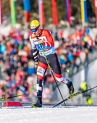 24.02.2019, Langlauf Arena, Seefeld, AUT, FIS Weltmeisterschaften Ski Nordisch, Seefeld 2019, Langlauf, Herren, Teambewerb, im Bild Dominik Baldauf (AUT) // Dominik Baldauf of Austria during the men's cross country team competition of FIS Nordic Ski World Championships 2019 at the Langlauf Arena in Seefeld, Austria on 2019/02/24. EXPA Pictures © 2019, PhotoCredit: EXPA/ Stefan Adelsberger