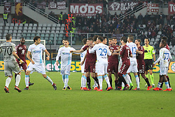 November 19, 2017 - Turin, Piedmont, Italy - Fight between Torino FC and Chievo Verona players during the Serie A football match between Torino FC and AC Chievo Verona at Olympic Grande Torino Stadium on 19 November, 2017 in Turin, Italy. (Credit Image: © Massimiliano Ferraro/NurPhoto via ZUMA Press)