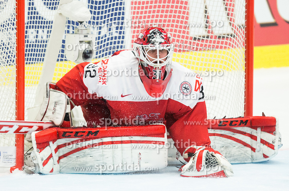 Sebastian Dahm of Denmark during Ice Hockey match between Russia and Denmark at Day 6 in Group B of 2015 IIHF World Championship, on May 6, 2015 in CEZ Arena, Ostrava, Czech Republic. Photo by Vid Ponikvar / Sportida