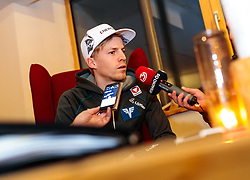18.01.2018, Team Hotel, Oberstdorf, GER, FIS Skiflug Weltmeisterschaft, im Bild Michael Hayboeck (AUT) // Michael Hayboeck of Austria before the FIS Ski Flying World Championships at the Team Hotel in Oberstdorf, Germany on 2018/01/18. EXPA Pictures © 2018, PhotoCredit: EXPA/ JFK