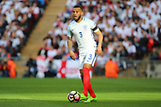 Ryan Bertrand of England dribbling during the FIFA World Cup Qualifier group stage match between England and Lithuania at Wembley Stadium, London, England on 26 March 2017. Photo by Matthew Redman.