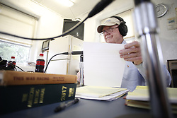 "Ercel Ellis and his wife Jackie have been hosting a radio show called ""Horse Tales"" at the Thoroughbred Training Center in Lexington for more than 15 years. They pair spend the two hour show handicapping races talking to local people in the horse industry and plug many businesses with advertisements, Saturday, July 08, 2017  at Thoroughbred Center in Lexington."