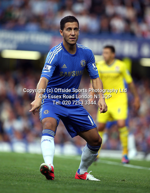 22 August 2012 Premier League football. Chelsea v Reading.<br /> Eden Hazard.<br /> Photo: Mark Leech.