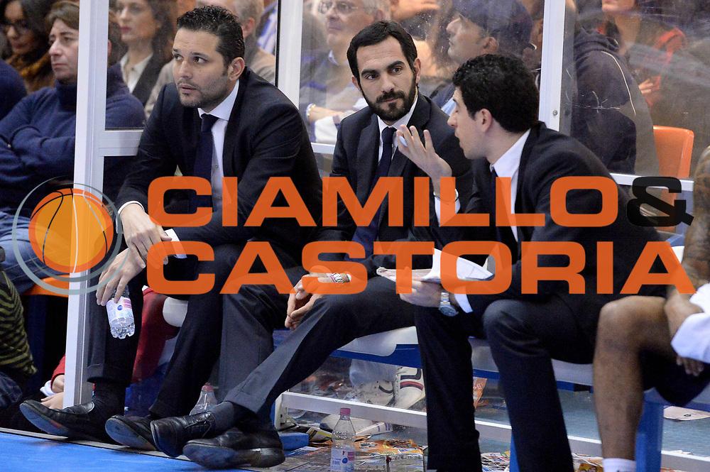 DESCRIZIONE : Brindisi Lega serie A 2013/14 Enel Brindisi Acea Virtus Roma<br /> GIOCATORE : Federico Fuca Nicola Alberani<br /> CATEGORIA : Delusione<br /> SQUADRA : Acea Virtus Roma<br /> EVENTO : Campionato Lega Serie A 2013-2014<br /> GARA : Enel Brindisi Acea Virtus Roma <br /> DATA : 26/01/2014<br /> SPORT : Pallacanestro<br /> AUTORE : Agenzia Ciamillo-Castoria/GiulioCiamillo<br /> Galleria : Lega Seria A 2013-2014<br /> Fotonotizia : Brindisi Lega serie A 2013/14 Enel Brindisi Acea Virtus Roma<br /> Predefinita :