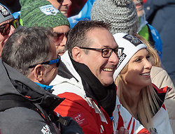 18.02.2018, Yongpyong Alpine Centre, Pyeongchang, KOR, PyeongChang 2018, Ski Alpin, Herren, Riesenslalom, 2. Durchgang, im Bild Vizekanzler Heinz-Christian Strache (FPÖ) mit Ehefrau Philippa // Heinz-Christian Strache Austrian Vice-Chancellor and leader of the Austrian Freedom Party FPOe and his wife Philippa during the 2nd run of men's Alpine Giant Slalom Race of the Pyeongchang 2018 Winter Olympic Games at the Yongpyong Alpine Centre in Pyeongchang, South Korea on 2018/02/18. EXPA Pictures © 2018, PhotoCredit: EXPA/ Johann Groder
