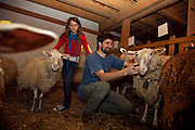 Florian Bassini est agriculteur. Dans sa ferme La Clairière sur les hauts de Montreux  il produit selon les règles biodynamiques. Dans le cadre des activités du PNR Gruyère il propose des ateliers pour familles, enfants et adultes ou l'on peux participer aux travaux de la ferme. © Romano P. Riedo