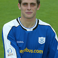 St Johnstone photocall 2004-2005 season.<br />Ross Forsyth<br /><br />Picture by Graeme Hart.<br />Copyright Perthshire Picture Agency<br />Tel: 01738 623350  Mobile: 07990 594431