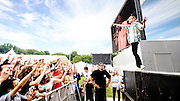 Macklemore performing live at the Rock A Field Festival in Luxembourg, Europe on June 30, 2013