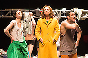 07/04/2014. The critically acclaimed contemporary ensemble les ballets C de la B returns to Sadler's Wells with the UK premiere of Alain Platel's latest creation tauberbach on Tuesday 8 & Wednesday 9 April 2014. Picture shows Berengere, Elsie de Brauw & Ross McCormack.