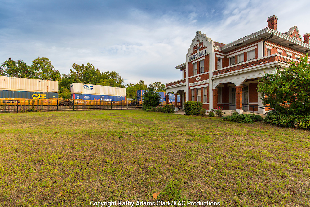 Marshall's Texas & Pacific Depot was built from 1911 to 1912 in the popular Prairie School style of architecture.  The depot has been restored and still serves as an  Amtrak passenger station.