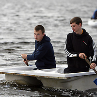 Cian Linneen and Conor Finucane during the tub race at the Kilmihil Festival of Fun at the weekend.<br /> Photograph by Yvonne Vaughan