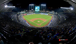 Sep 29, 2018; Kansas City, MO, USA; A general view of the stadium in the fourth inning of the game between the Kansas City Royals and Cleveland Indians at Kauffman Stadium. Mandatory Credit: Denny Medley-USA TODAY Sports