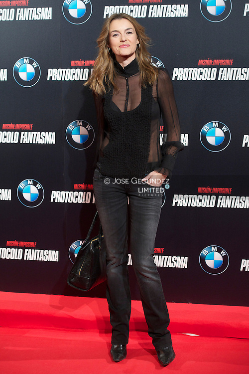 Monica Martinez attends the 'Mission: Impossible - Ghost Protocol' Premiere at the Callao Cinema on December 12, 2011 in Madrid, Spain