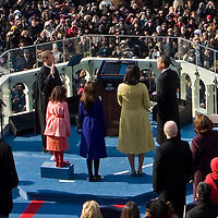 Chief Justice Roberts administers the oath of office at the Inauguration of President Barack Obama as 44th President of the United States of America. US Capitol, Washington, DC. 1/20/09. Photo by Lisa Quinones/Black Star.