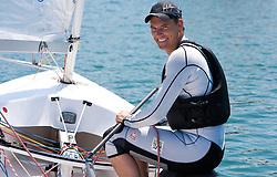Vasilij Zbogar of Slovenia sails at practice session on May 19, 2010 near Marina Izola / Marina di Isola, Izola, Slovenia. (Photo by Vid Ponikvar / Sportida)