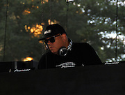 DJ Wayne Williams performs during the Liberty State Park Music Festival in Newark, New Jersey on July 25, 2015.