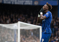 Football - 2019 / 2020 Premier League - Chelsea vs. Crystal Palace<br /> <br /> Tammy Abraham (Chelsea FC) blows a kiss to the fans who are cheering his name after he scores at Stamford Bridge <br /> <br /> COLORSPORT/DANIEL BEARHAM