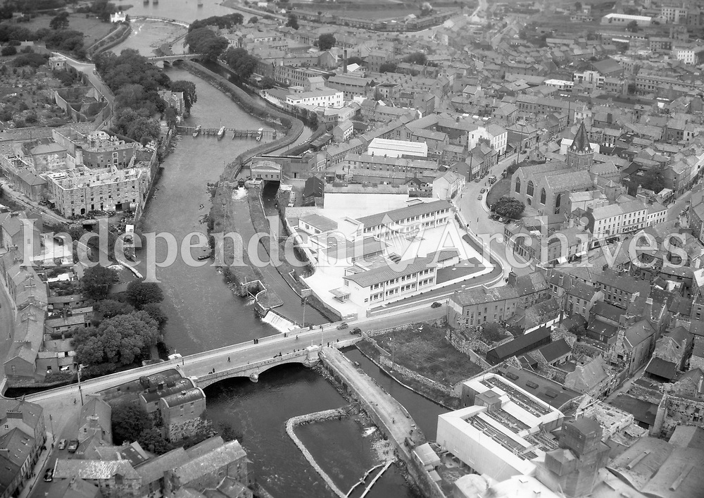 A210 Galway.   13/03/59. (Part of the Independent Newspapers Ireland/NLI collection.)<br /> <br /> <br /> These aerial views of Ireland from the Morgan Collection were taken during the mid-1950's, comprising medium and low altitude black-and-white birds-eye views of places and events, many of which were commissioned by clients. From 1951 to 1958 a different aerial picture was published each Friday in the Irish Independent in a series called, 'Views from the Air'.